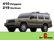 jeep commander lowpoly 3d model