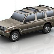 jeep commander lowpoly 3d model