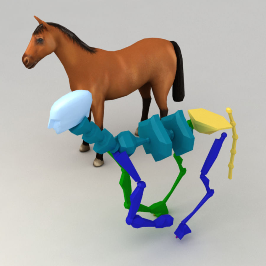 Horse rigged royalty-free 3d model - Preview no. 7