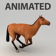 Häst rigged 3d model