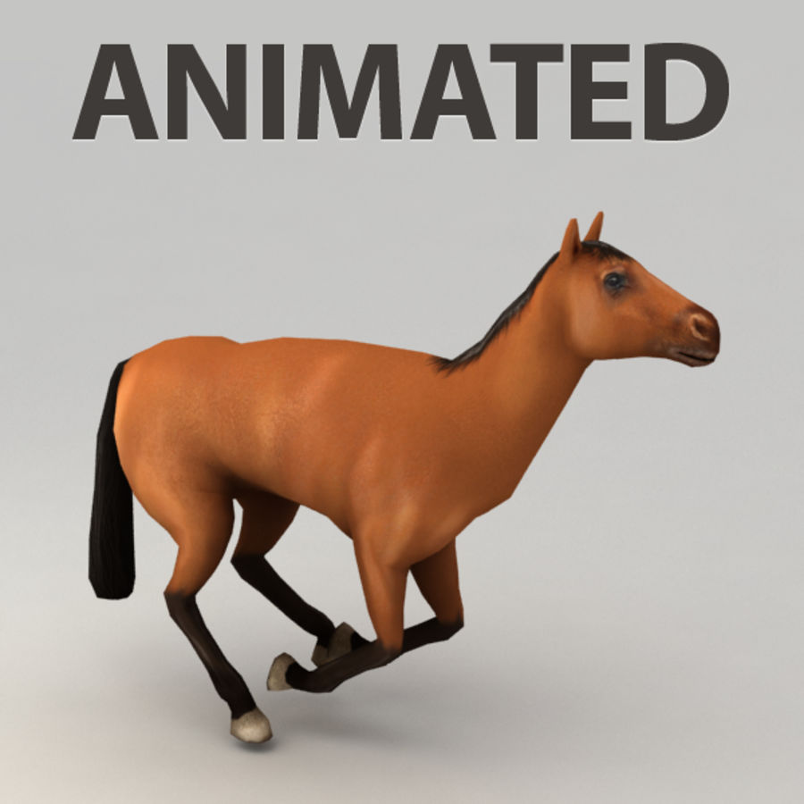 Horse rigged royalty-free 3d model - Preview no. 1