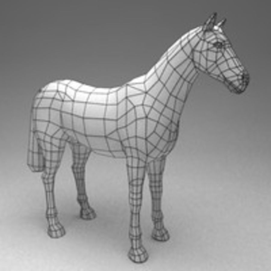 Horse rigged royalty-free 3d model - Preview no. 5