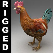 Hen rigged 3d model