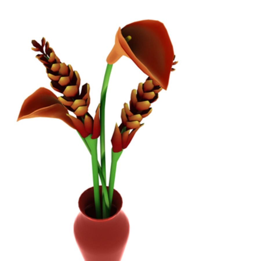 Blume Orchidee Pflanze royalty-free 3d model - Preview no. 15