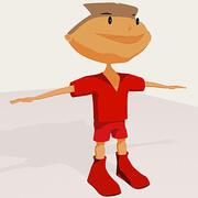 Мультфильм мальчик 3d model