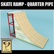 Скейт рампа - четверть трубы 3d model