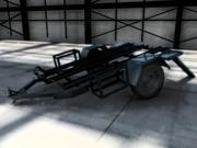 摩托车拖车 3d model