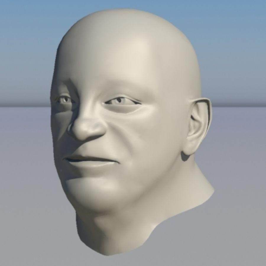 캐릭터 - 헤드 - 3 royalty-free 3d model - Preview no. 1