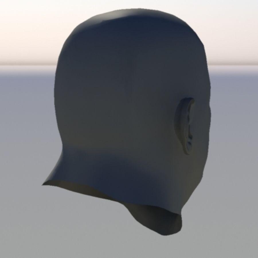 캐릭터 - 헤드 - 3 royalty-free 3d model - Preview no. 6