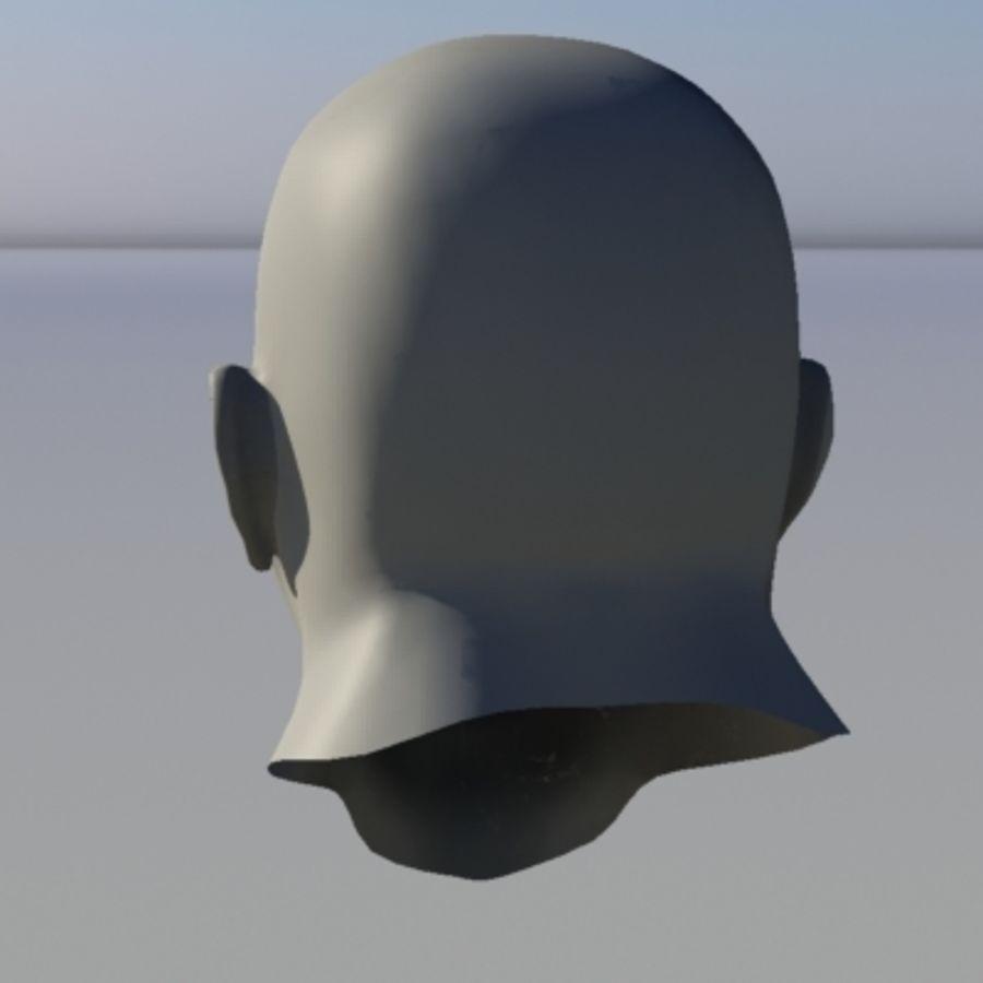 캐릭터 - 헤드 - 3 royalty-free 3d model - Preview no. 4