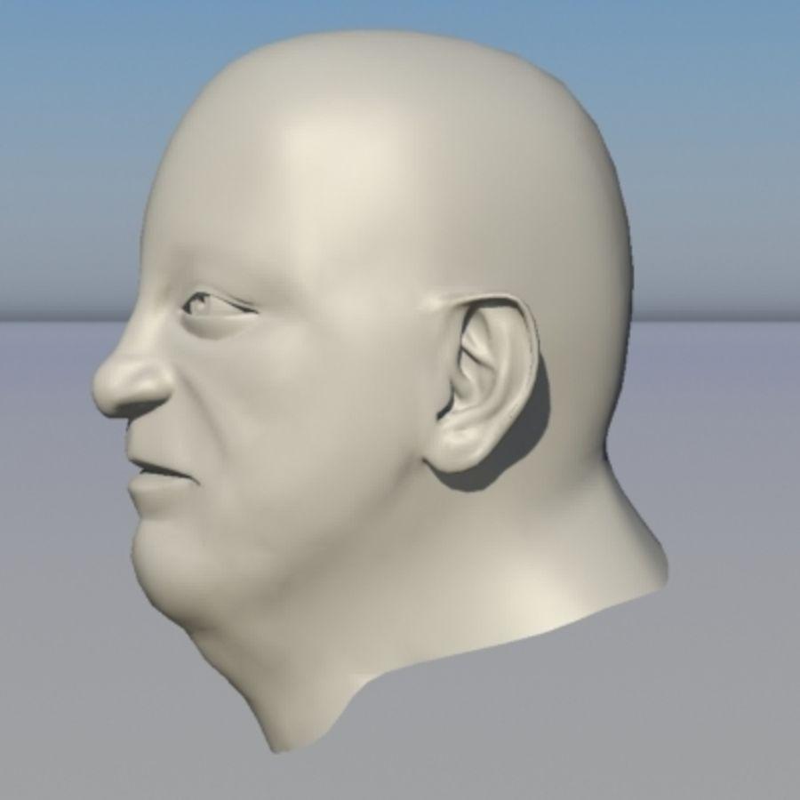 캐릭터 - 헤드 - 3 royalty-free 3d model - Preview no. 2