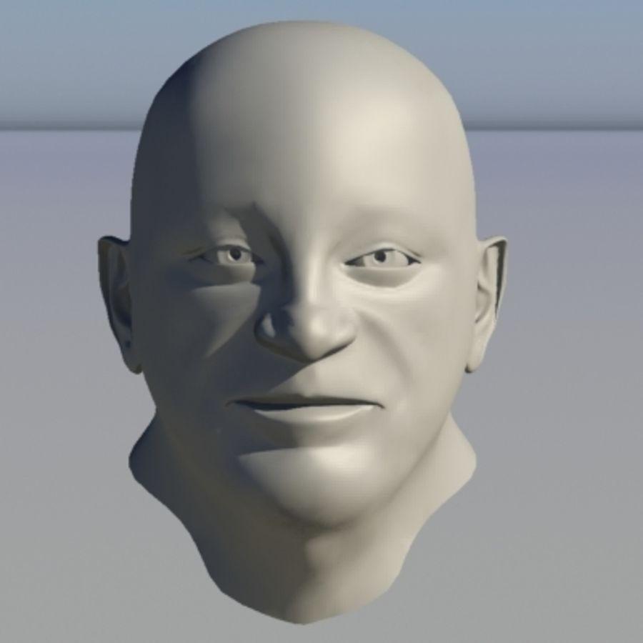 캐릭터 - 헤드 - 3 royalty-free 3d model - Preview no. 7