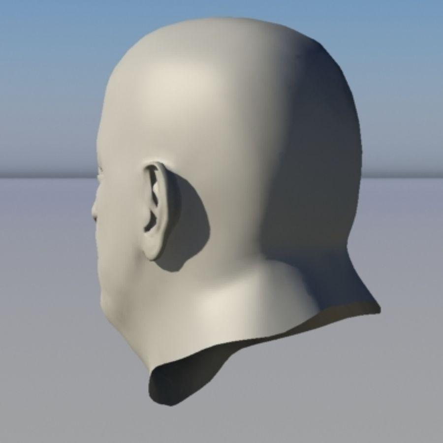 캐릭터 - 헤드 - 3 royalty-free 3d model - Preview no. 3