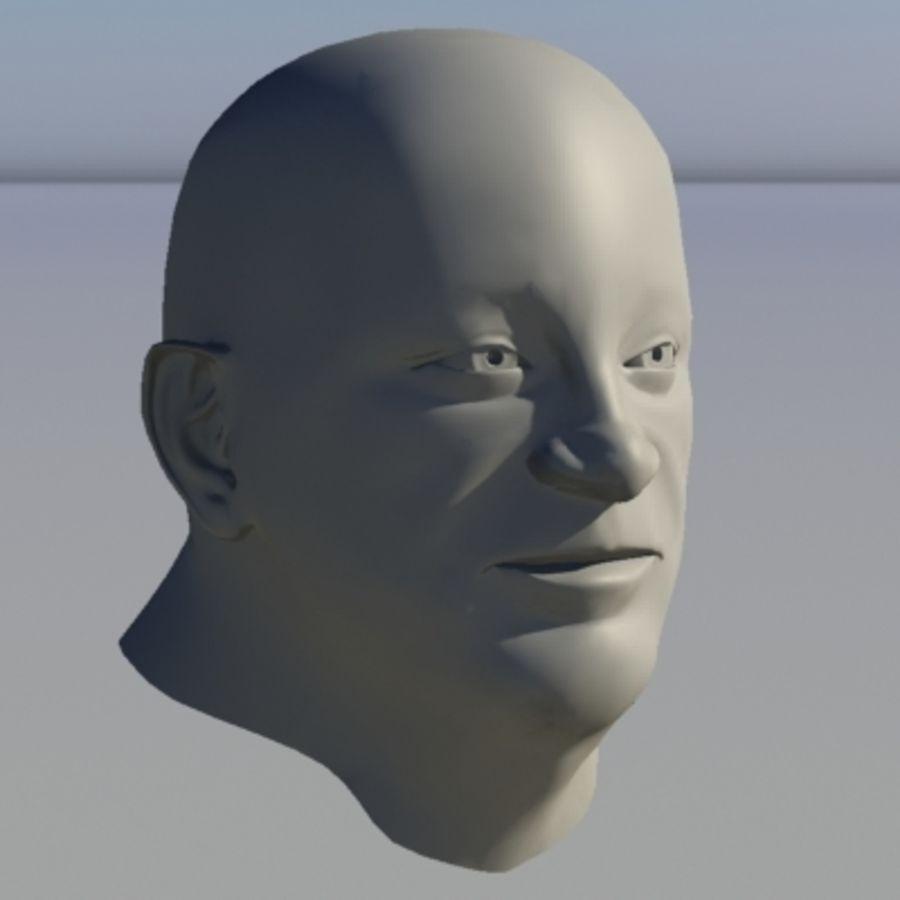 캐릭터 - 헤드 - 3 royalty-free 3d model - Preview no. 8