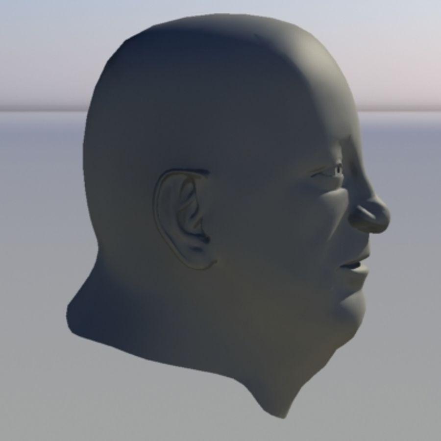 캐릭터 - 헤드 - 3 royalty-free 3d model - Preview no. 5