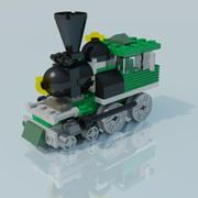 Lego tåg 3d model