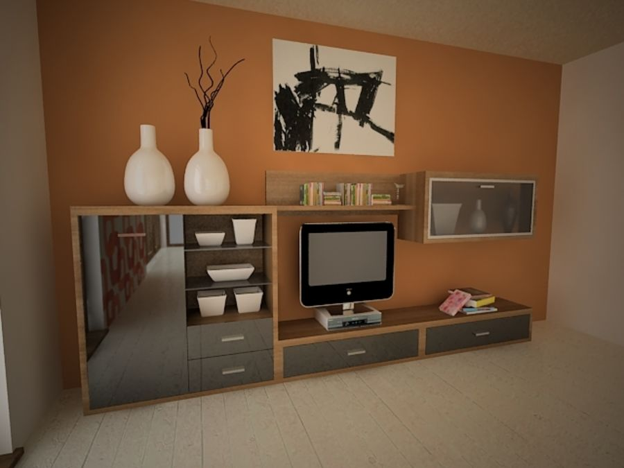 MEUBLES DE SALON royalty-free 3d model - Preview no. 3