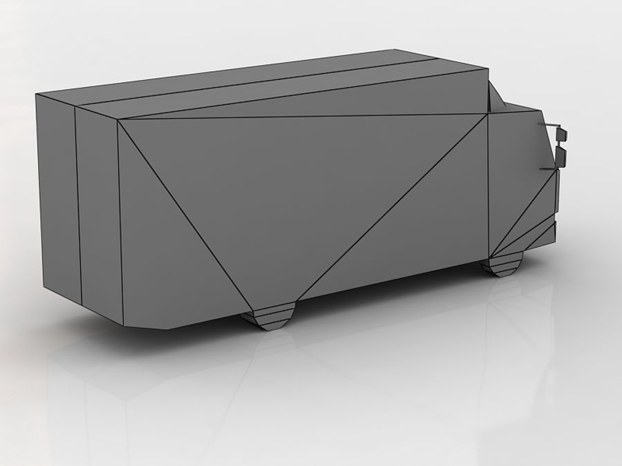 renault midlum lowpoly royalty-free 3d model - Preview no. 5