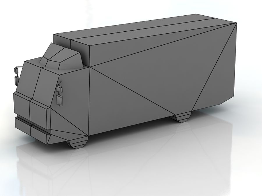 renault midlum lowpoly royalty-free 3d model - Preview no. 3