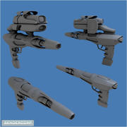 SCIFI WEAPON 3d model