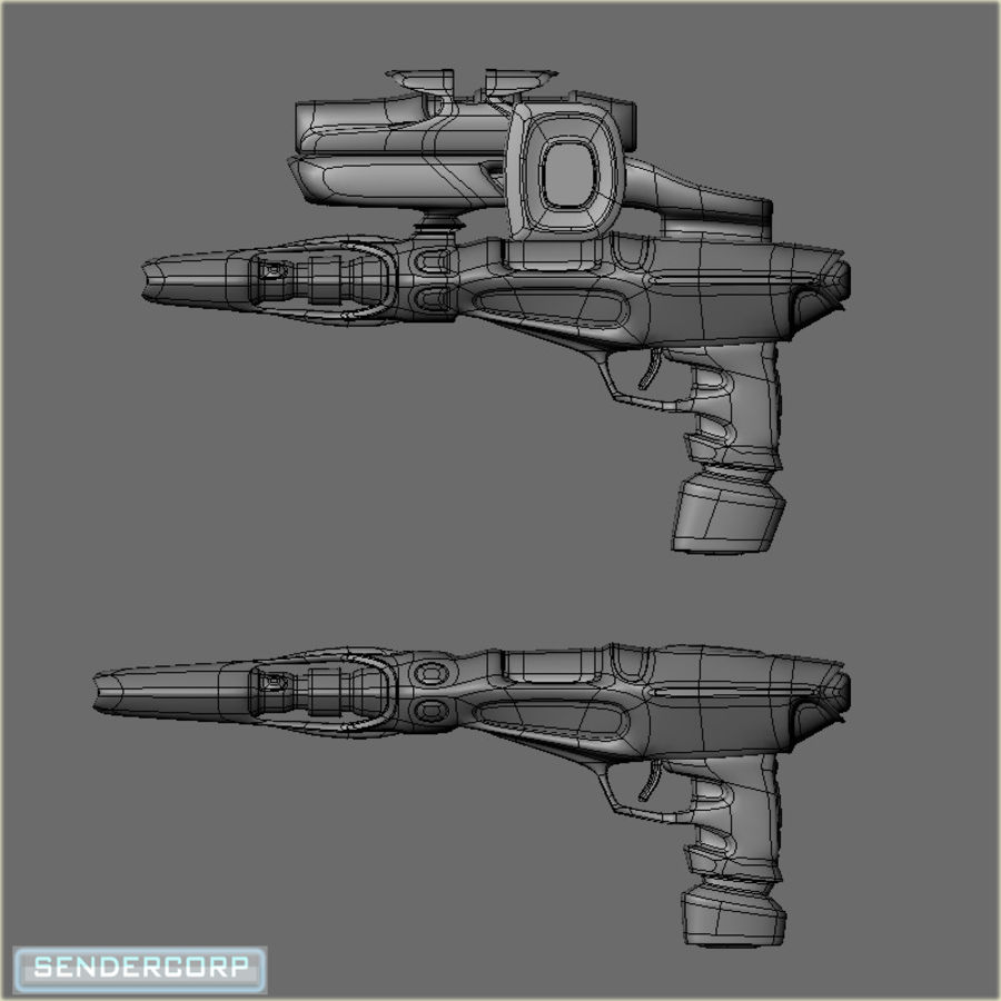 SCIFI WEAPON royalty-free 3d model - Preview no. 3