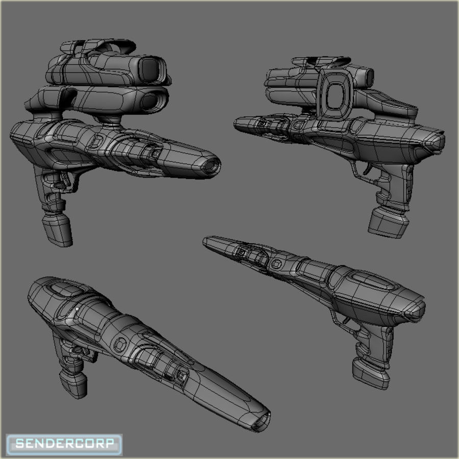 SCIFI WEAPON royalty-free 3d model - Preview no. 2