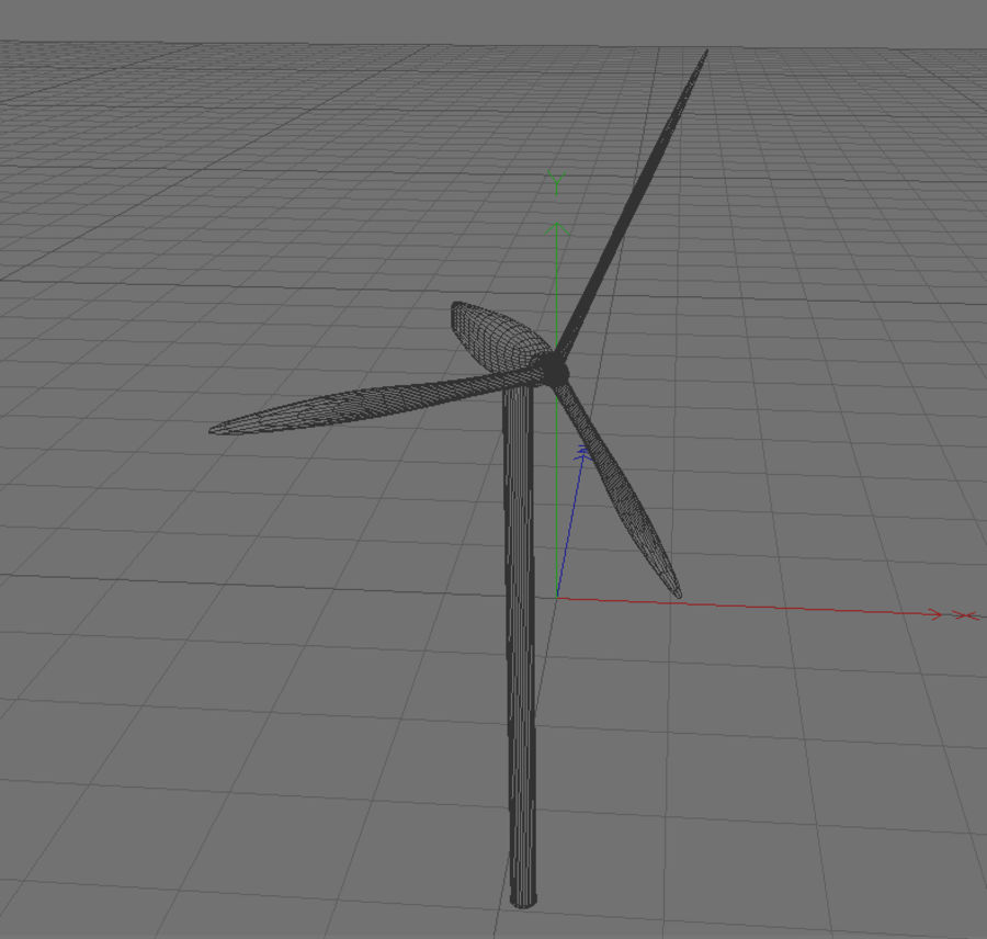 Ветровая турбина royalty-free 3d model - Preview no. 3