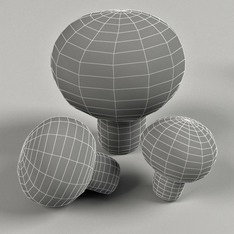 Agaricus Campester royalty-free 3d model - Preview no. 7