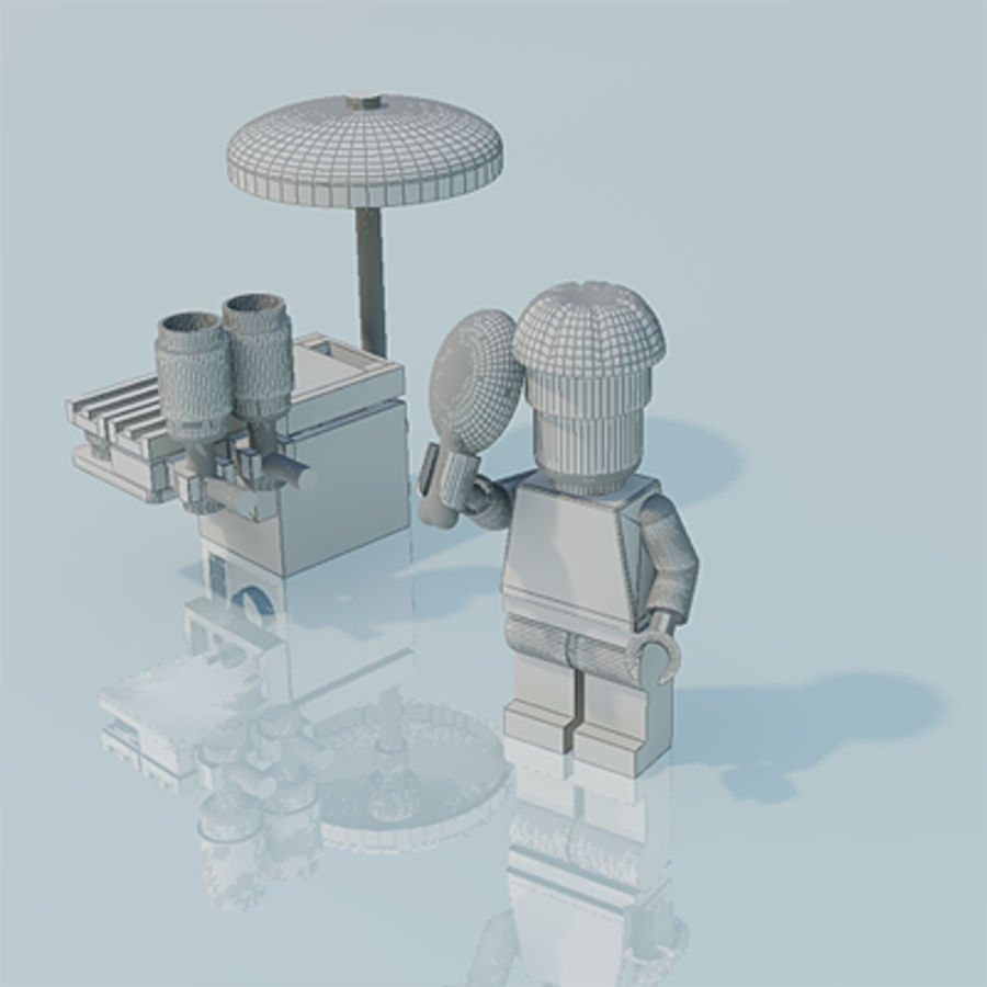Lego man, chef, scene royalty-free 3d model - Preview no. 2