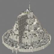 Lowpoly - Minas Tirith 3d model