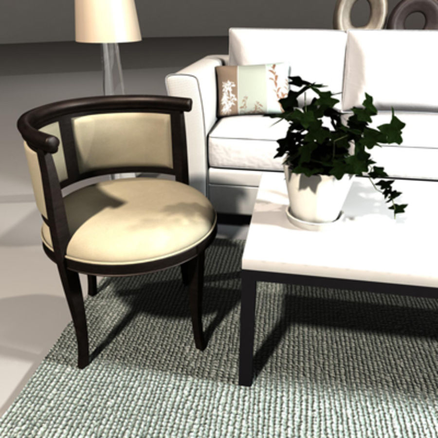 woonkamer set royalty-free 3d model - Preview no. 2
