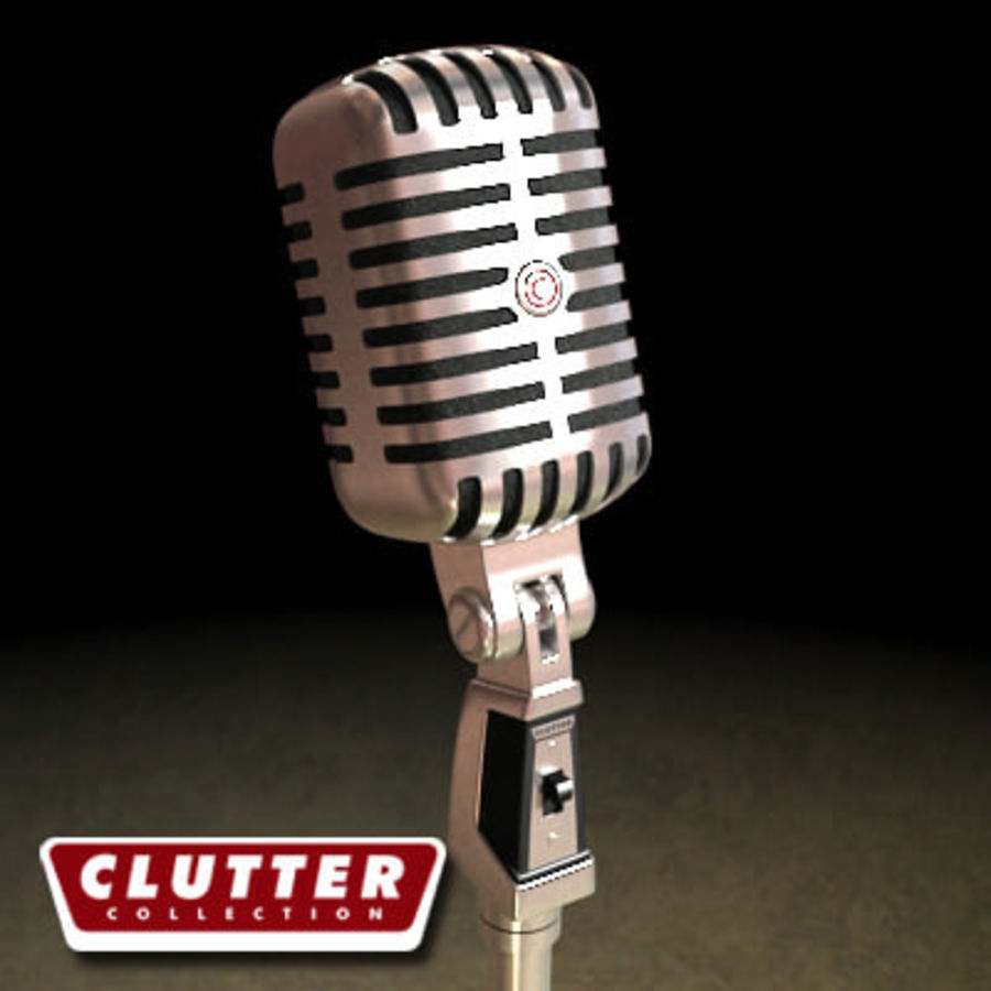 Electronics-Microphone Retro 001 royalty-free 3d model - Preview no. 1