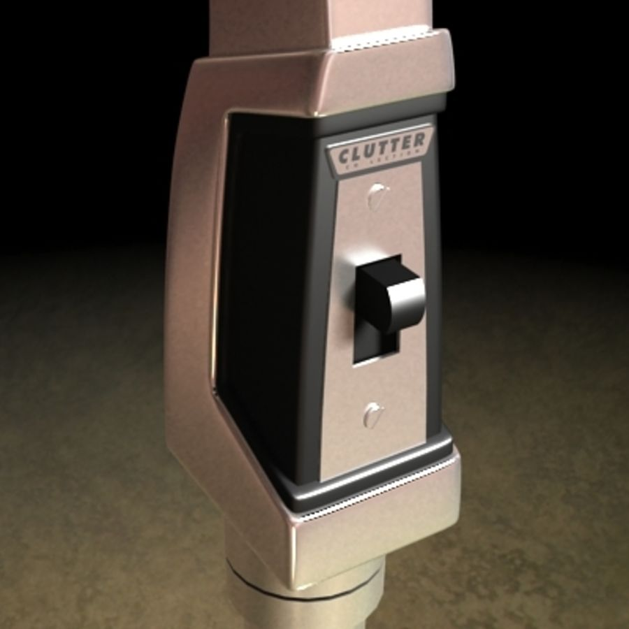 Electronics-Microphone Retro 001 royalty-free 3d model - Preview no. 7