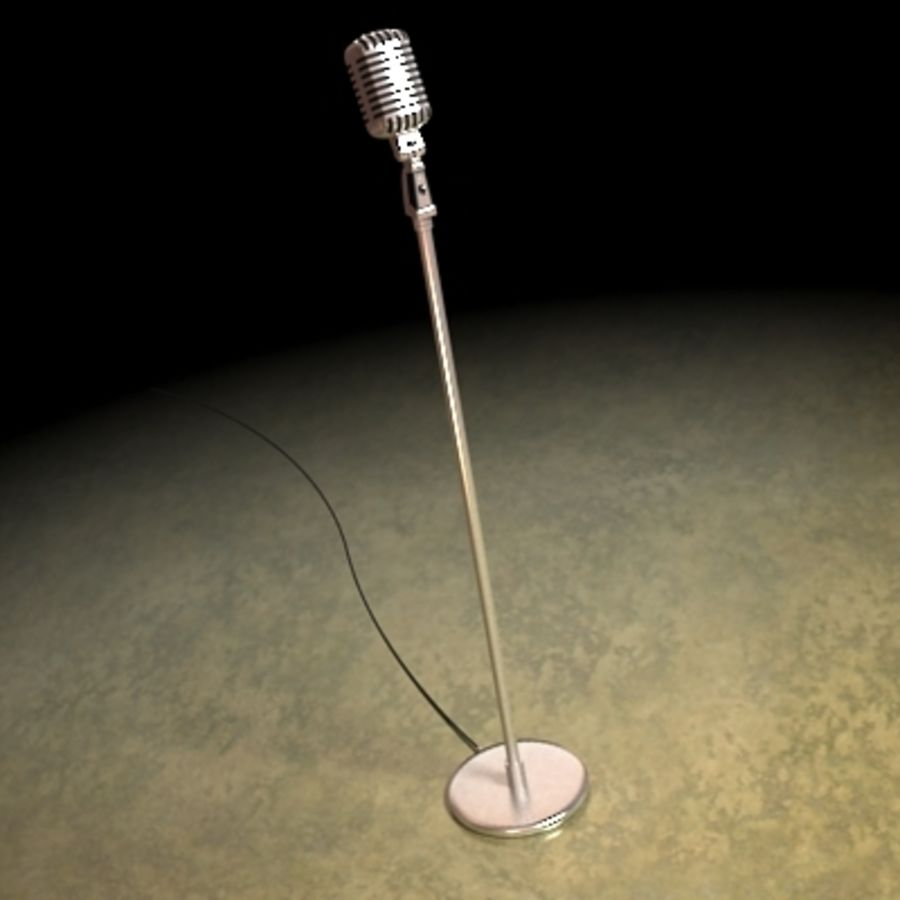Electronics-Microphone Retro 001 royalty-free 3d model - Preview no. 4
