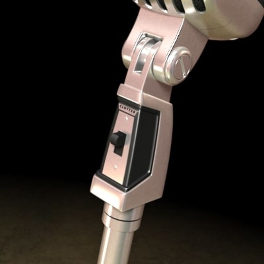 Electronics-Microphone Retro 001 royalty-free 3d model - Preview no. 6