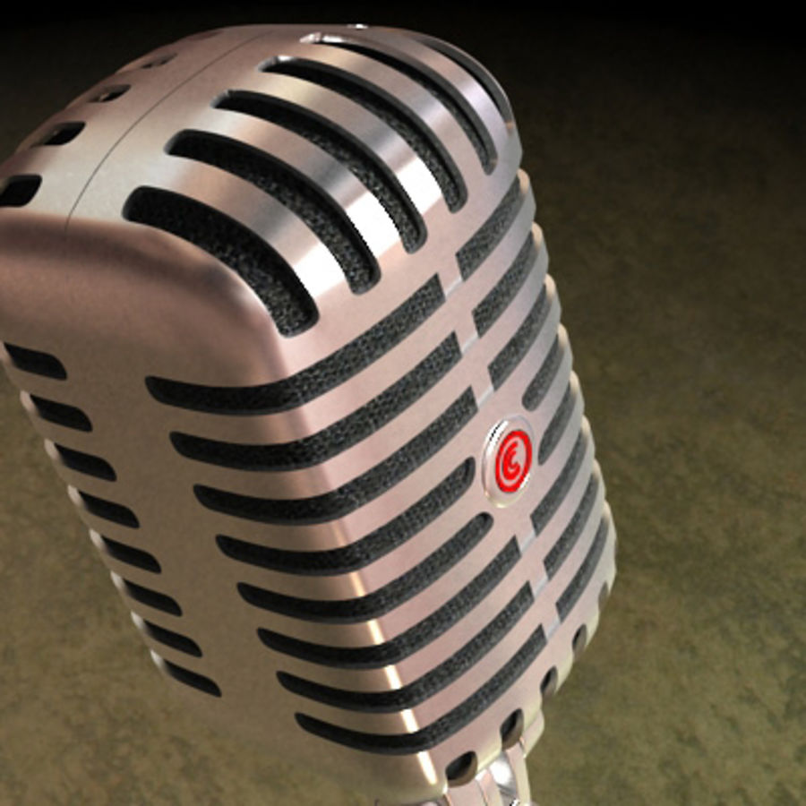 Electronics-Microphone Retro 001 royalty-free 3d model - Preview no. 5