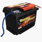 Batería de coche modelo 3d