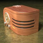Electronics-Radio Retro 001 3d model