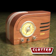 Elektronik-Radio Retro 001 3d model