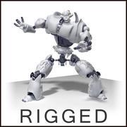 Робот + окружающая среда 3d model