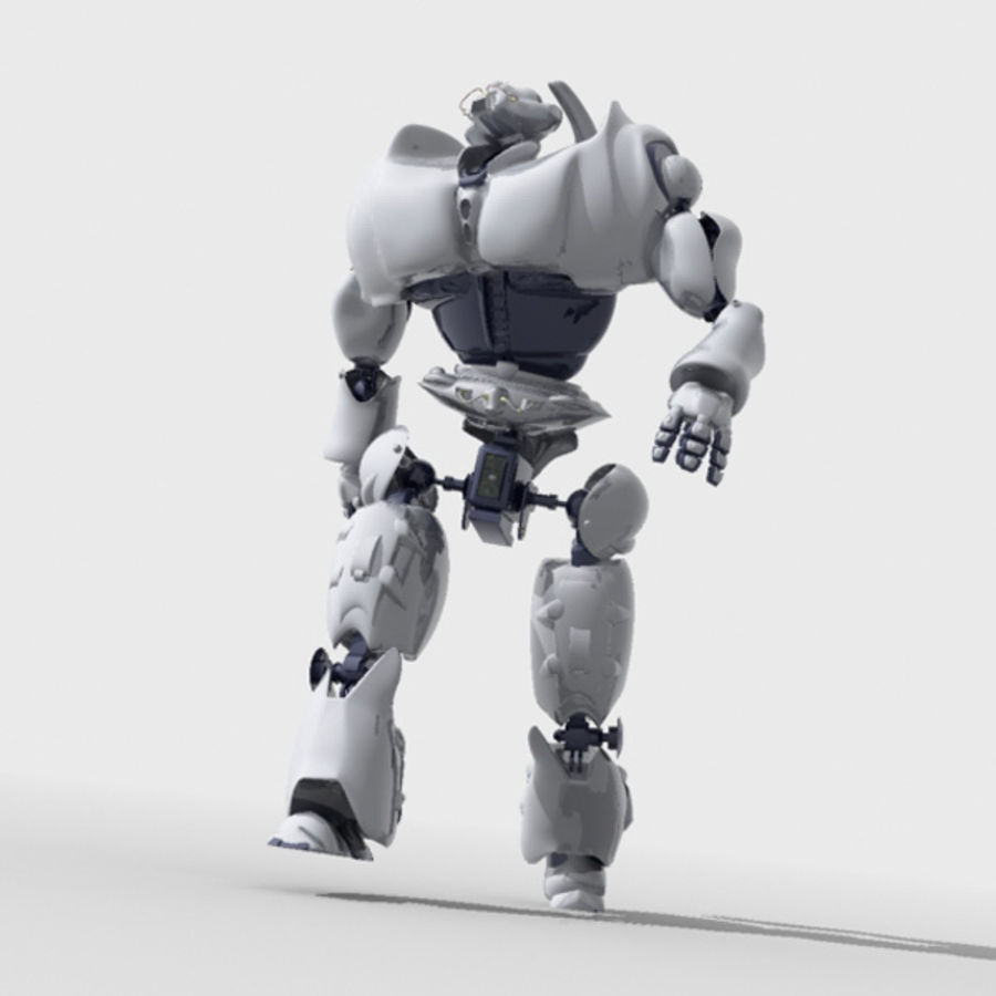 Robot + environment scene royalty-free 3d model - Preview no. 4