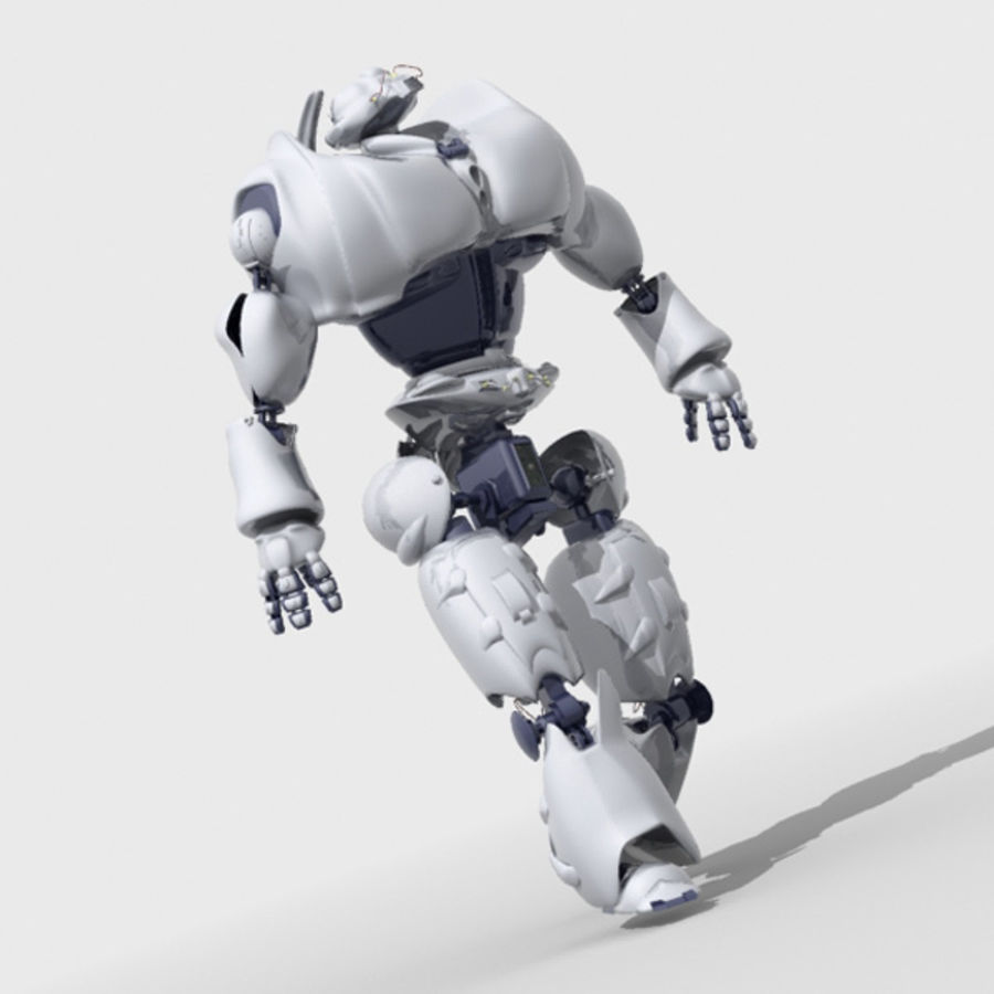 Robot + environment scene royalty-free 3d model - Preview no. 3