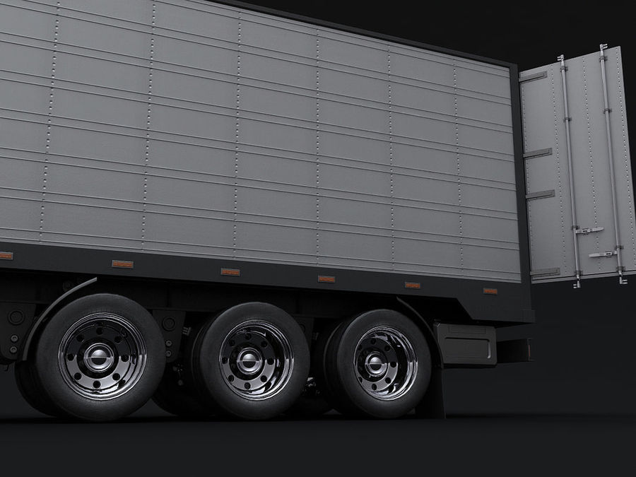 trailer royalty-free 3d model - Preview no. 2