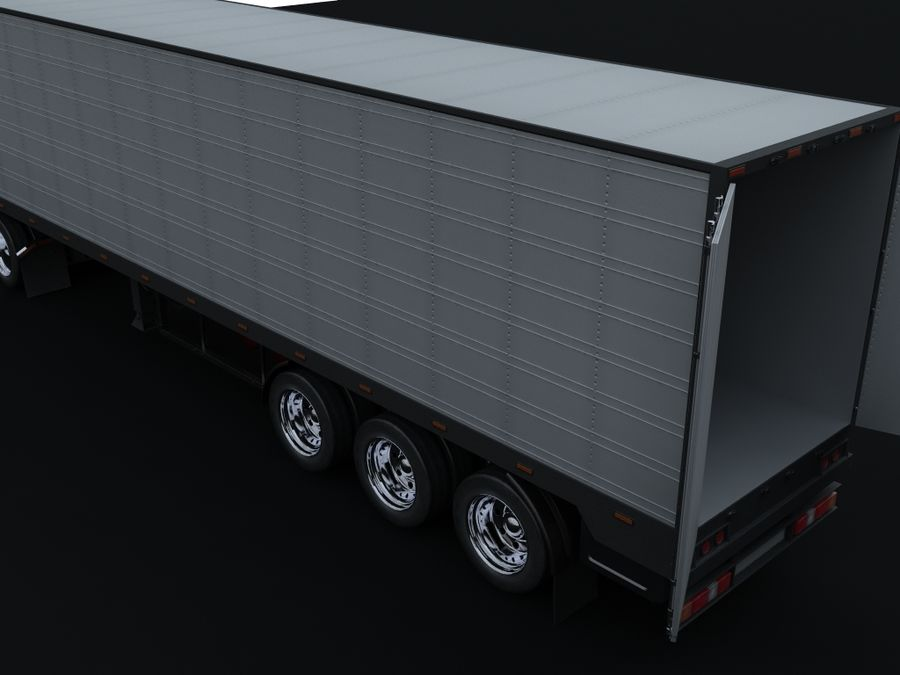 trailer royalty-free 3d model - Preview no. 4