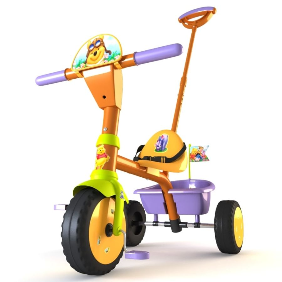 Kinderen driewieler royalty-free 3d model - Preview no. 13
