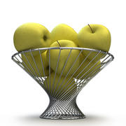 Корзина яблочно-желтая Голден 3d model