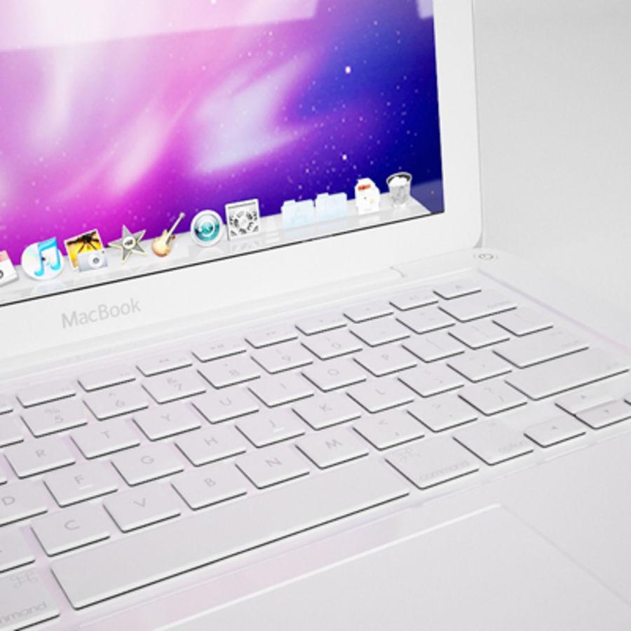 portátil macbook de 13 pulgadas 2010 royalty-free modelo 3d - Preview no. 4