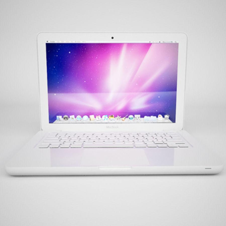 portátil macbook de 13 pulgadas 2010 royalty-free modelo 3d - Preview no. 13