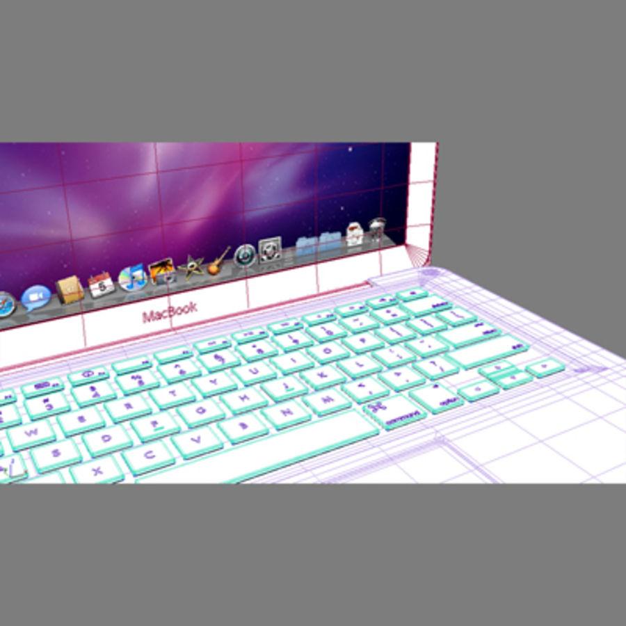 portátil macbook de 13 pulgadas 2010 royalty-free modelo 3d - Preview no. 5