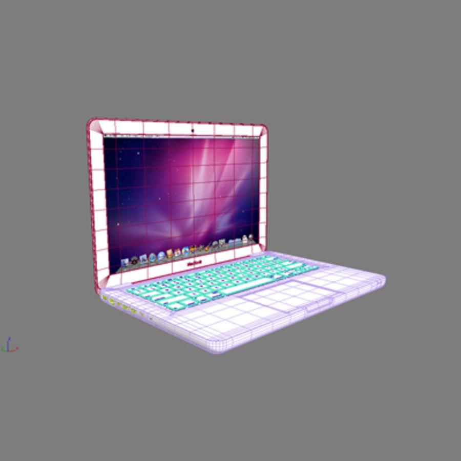 portátil macbook de 13 pulgadas 2010 royalty-free modelo 3d - Preview no. 3